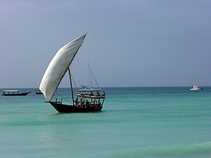 Trade route - Much of the Radhanites' Indian Ocean trade would have depended on coastal cargo-ships such as this dhow.