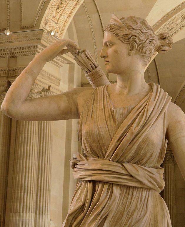 Diana Versailles Roman Copy Greek Statue Attributed Leochares Louvre