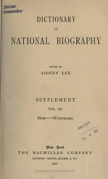 Dictionary of National Biography. Sup. Vol III (1901).djvu