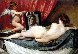 Diego Velaquez, Venus at Her Mirror (The Rokeby Venus)