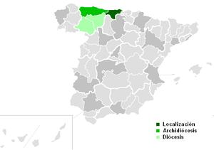 Roman Catholic Diocese of Santander - Image: Diocesis de Santander