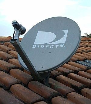 Português: Antena DirecTV apontada para o saté...