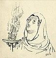 Disegno per copertina di libretto, disegno di Peter Hoffer per La vestale (1954) - Archivio Storico Ricordi ICON012400.jpg