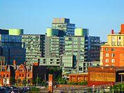 Distant construction cranes on Toronto's skyline, 2017 06 14 -c (34470224324)