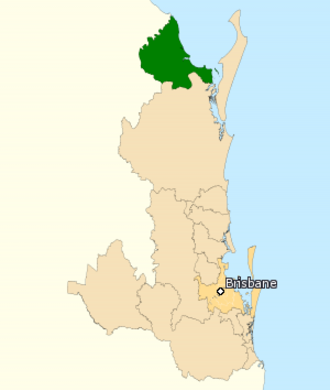 Division of Hinkler - Division of Hinkler in Queensland, as of the 2016 federal election.