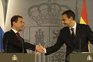 Dmitry Medvedev in Spain 3 March 2009-6