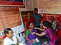 Doctors attending patients at a medical camp conducted in the Bharat Nirman Public Information Campaign, at Mandwi in West Tripura district on November 07, 2013.jpg