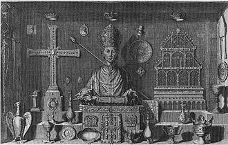 Michel Félibien - Print from Félibien's Histoire de l'abbaye royale de Saint-Denys en France