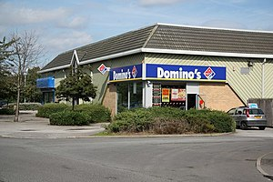 English: Domino's Pizza Take-away pizzas on Tr...