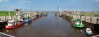 Dornum - The fishing harbour at Dornumersiel
