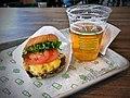 Double Shack burger, Shackmeister Ale.jpg