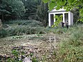 Downhall Country House Hotel - the disused summerhouse at the head of the lake - geograph.org.uk - 451757.jpg