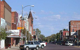 Lexington, Nebraska - Downtown, looking north (2004)