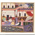 Draupadi and companions on terrace.jpg