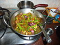 Drumstick Brinjal Sambar in initial stage of Cooking.JPG