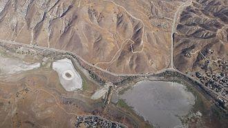 Elizabeth Lake (Los Angeles County, California) - Lake Elizabeth as seen from the air.