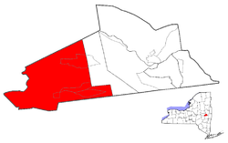 Location of Duanesburg within Schenectady County