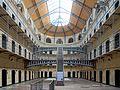 Dublin kilmainham gaol cells hall.JPG