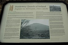 Dunlewy - Sign at derelict church - geograph.org.uk - 1189939.jpg