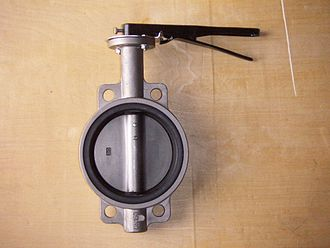 Butterfly valve - Duplex valve in wafer butterfly configuration.