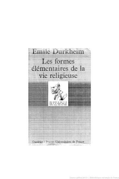 File:Durkheim - Les Formes élémentaires de la vie religieuse.djvu