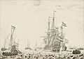 Dutch Ships near the Coast A29385.jpg