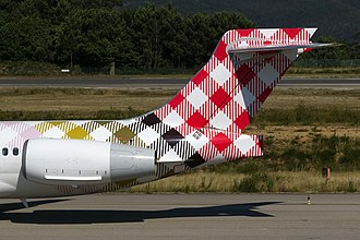 Rolls-Royce BR700 - A BR715 engine on a Boeing 717 of Volotea
