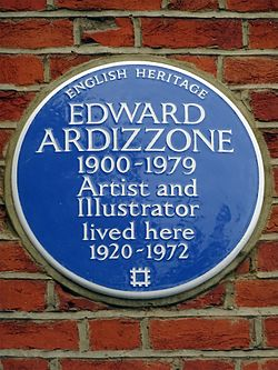 Photo of Edward Ardizzone blue plaque