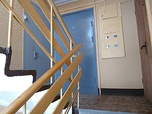 Interior of apartment building