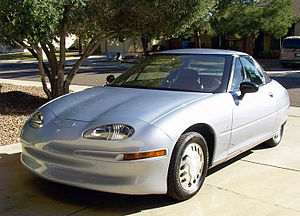 Alternative fuel vehicle - General Motors EV1 electric car.