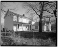 EXTERIOR VIEW OF REAR ELEVATION FROM SOUTHWEST - Moses McKay House, New Burlington Road, Corwin, Warren County, OH HABS OHIO,83-COR.V,1-5.tif