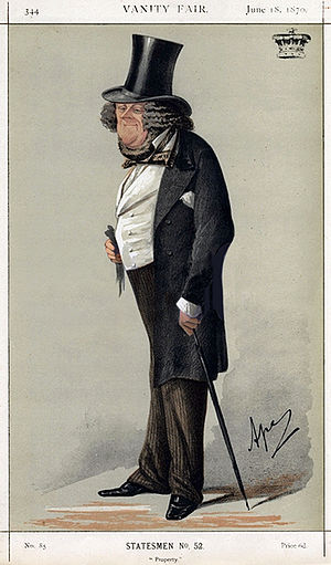 "William Ward, 1st Earl of Dudley - ""Property"" The Earl of Dudley as caricatured by Ape (Carlo Pellegrini) in Vanity Fair, June 1870."