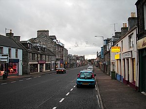 Early winter evening on the High Street - geograph.org.uk - 1592637.jpg