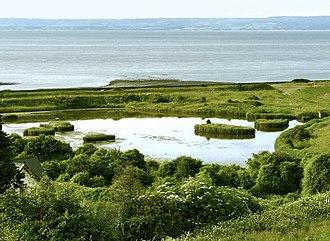 Aberthaw - Lagoon on The Leys of East Aberthaw