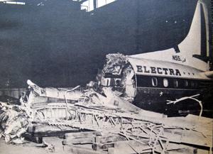 Eastern Air Lines Flight 375 - Wreckage of the Lockheed L-188