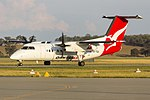 Eastern Australia Airlines (VH-TQS) de Havilland Canada DHC-8-202 taxiing at Wagga Wagga Airport.jpg