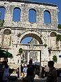 Eastern gate, Porta argentea, of Diocletian's Palace, Split.jpg