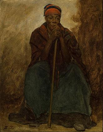 Dinah - Dinah, Portrait of a Negress by Eastman Johnson