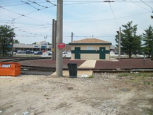 Eastwick, Philadelphia - The public bathroom at the center of the Eastwick Loop station