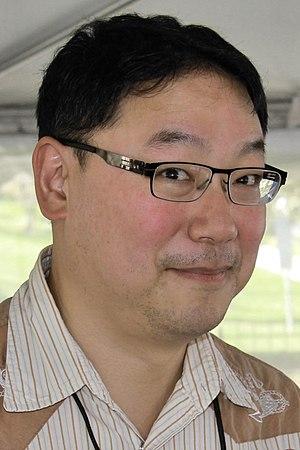 Ed Lin - Lin at the 2014 Texas Book Festival.
