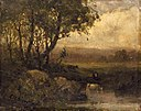 Edward Mitchell Bannister - Untitled (landscape, riverbank, three cows) - 1983.95.136 - Smithsonian American Art Museum.jpg