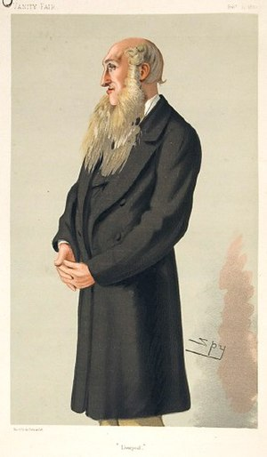 "Edward Whitley (politician) - ""Liverpool"". Caricature by Spy published in Vanity Fair in 1880."