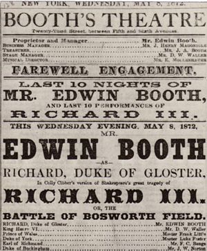 Playbill advertising American actor Edwin Boot...