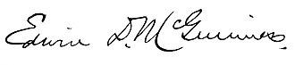 Edwin D. McGuinness - Image: Edwin D. Mc Guinness mayor of Providence signature