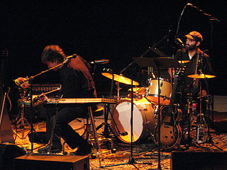 Eels (band) - Birmingham Town Hall, February 2008 (left to right): The Chet and E