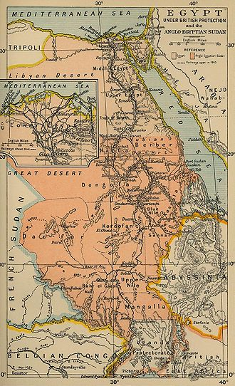Anglo-Egyptian Sudan - Map of the Anglo-Egyptian Sudan