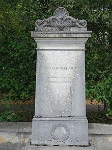 Grave of honor for Jacob Burckhardt (1818–1897) in the Hörnli cemetery