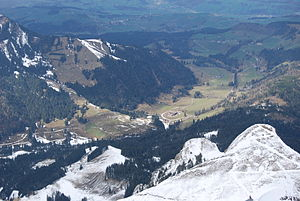 Schwarzenberg, Switzerland - View from Mt. Pilatus to Eigenthal and Schwarzenberg