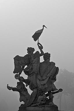 """Ein """"lebendes"""" Denkmal"""