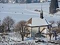 Einsiedeln - Friedhofskapelle und Friedhof - St. Benediktweg 2013-01-26 13-44-46 (P7000).JPG